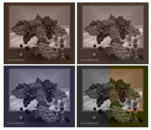 画像加工ソフトで加工したみたいに見える。といいな。