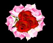 バラの花束 オートシェイプ画像