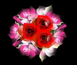 バラの花束 オートシェイプ