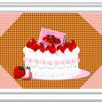 いちごケーキ カードっぽく