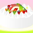 フルーツ乗せケーキ