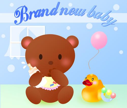 Brand new baby bear