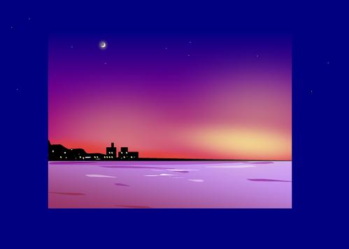 リスボンの夜空