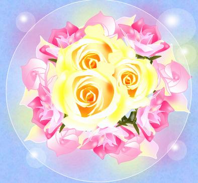 薔薇の花束を・・