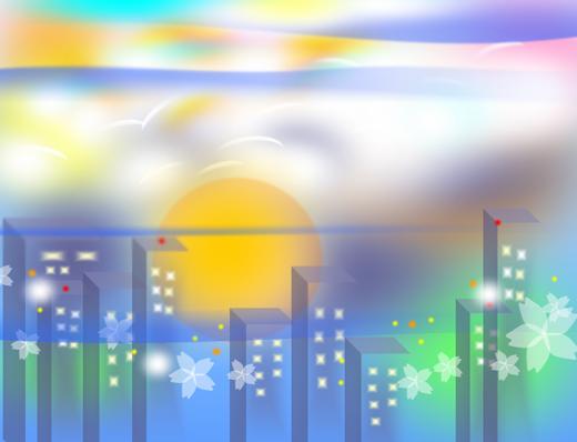 都会の夕空