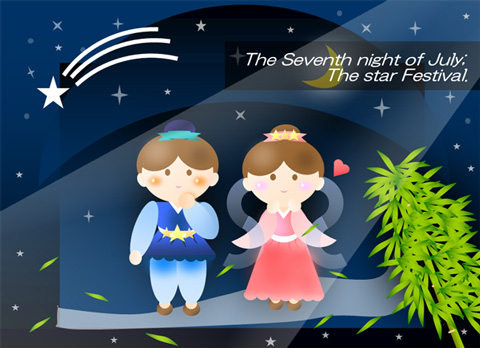 季節7月 七夕 織姫と彦星 ②