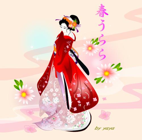 美人画 春